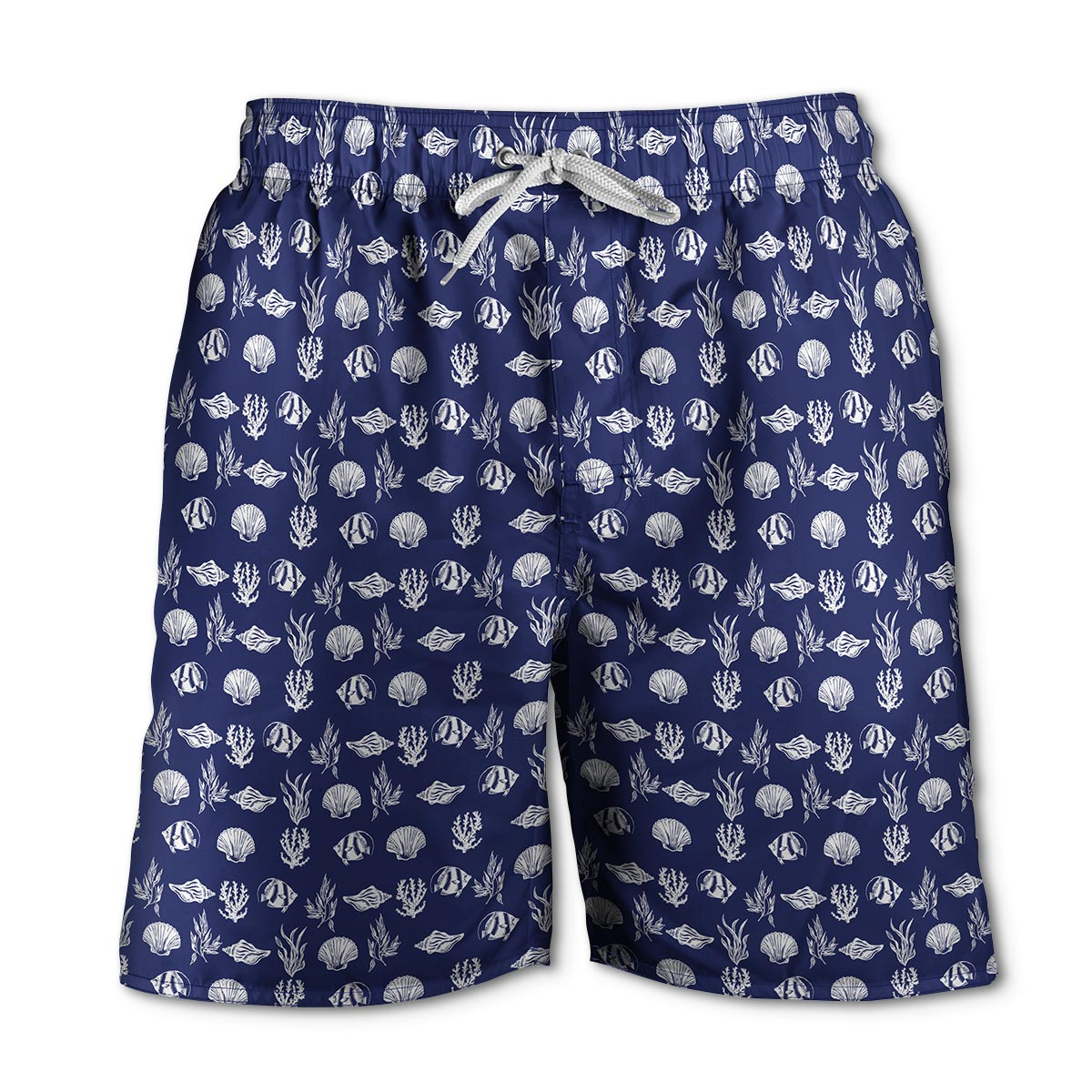 Newport Blue - Swim Shorts | Cerviche - Navy/White