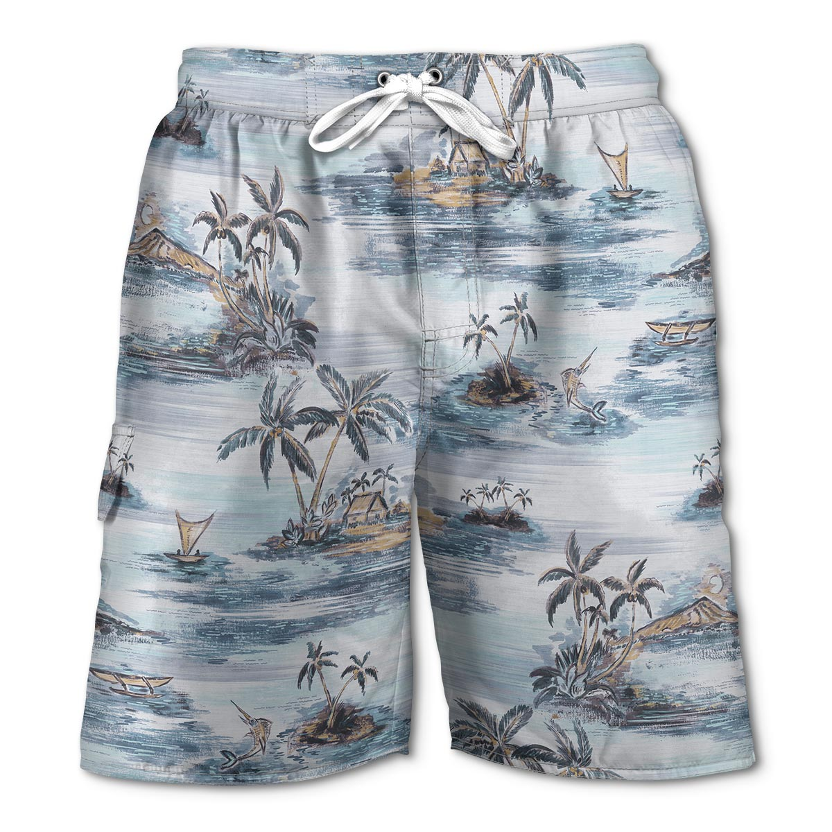 Newport Blue - Swim Shorts | Uppers Surfing - Grey