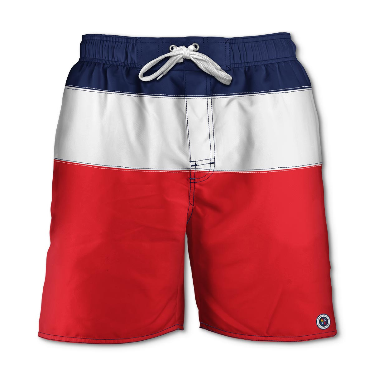 Newport Blue - Swim Shorts | Trifecta - Red/White/Navy