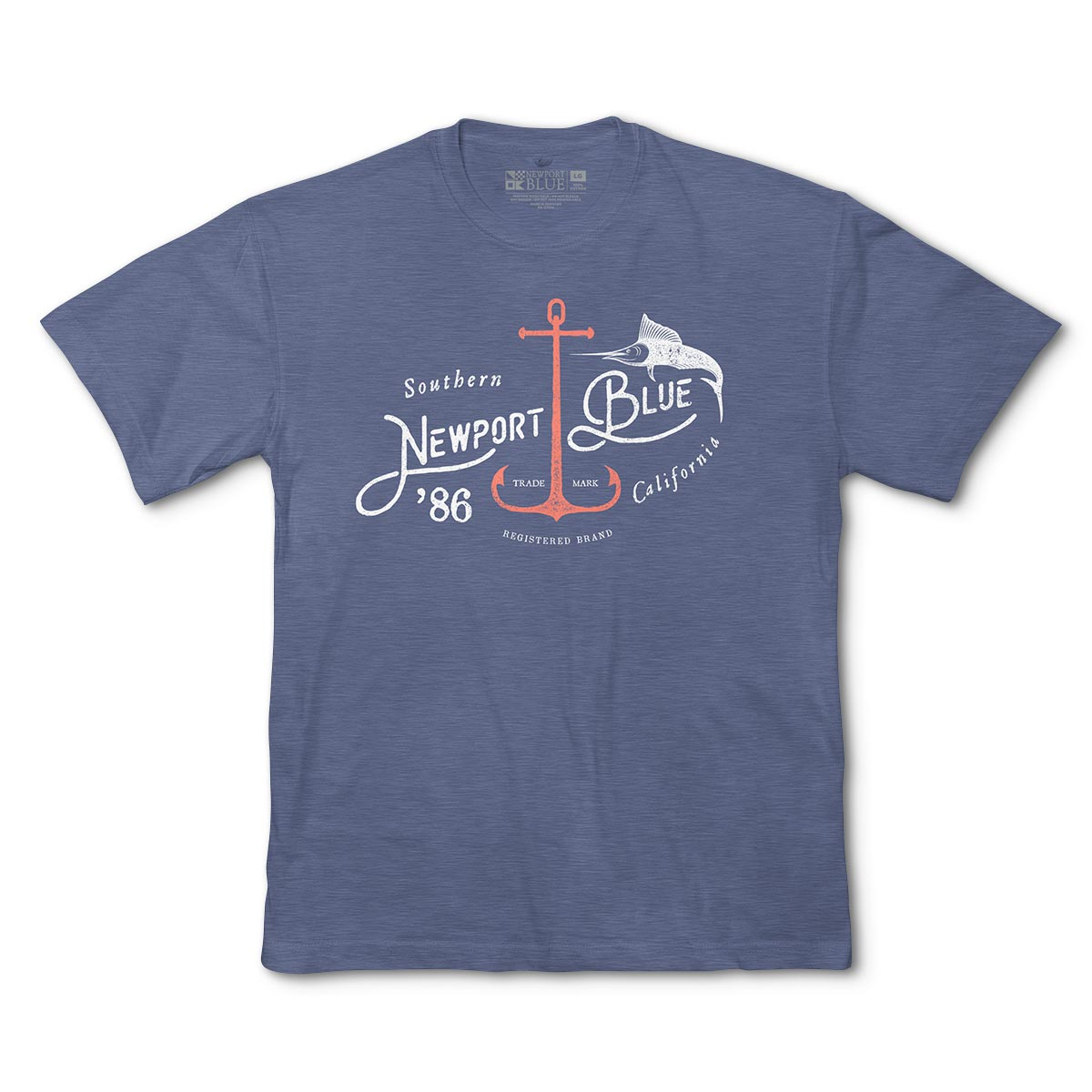 Newport Blue - Graphic Tee | Port So Cal - Navy Heather