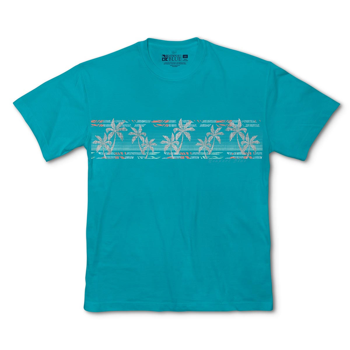 Newport Blue - Graphic Tee | Palm Woods - Jade